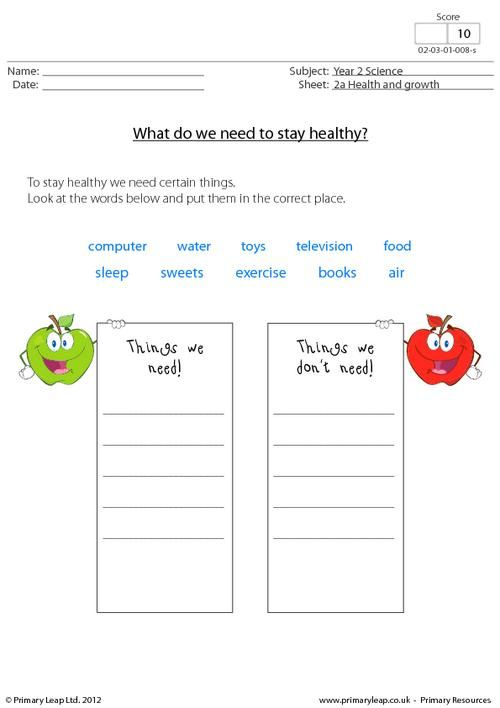 Printables Healthy Living Worksheets primaryleap co uk healthy living worksheet science printable worksheet