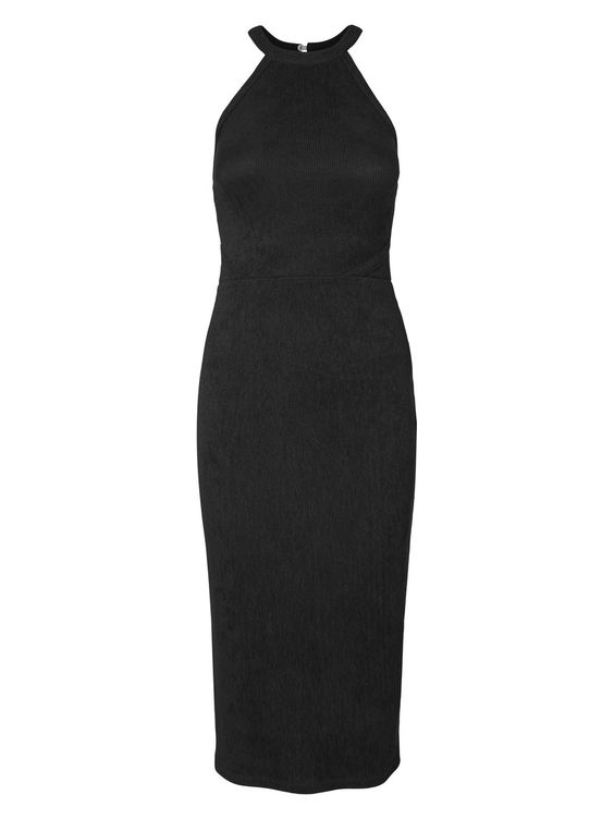 Long black dress from VERO MODA. The ultimate party dress.