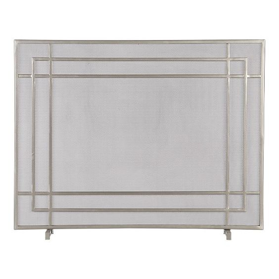 alton ii pewter fireplace screen in fireplace accessories