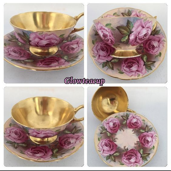 Aynsley gold with large cabbage roses tea cup and saucer. #teacup #teacupcollector #teacupandsaucer #teacupandsaucerjakarta #teacupandsaucerindonesia #teacupaddict #teacuplovers #teacuploverindonesia #vintage #vintagelovers #vintagecollector #vintagejakarta #vintageindonesia #hightea #bonechina #glowteacup