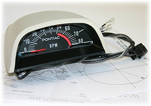 Inline Tube Factory Hood Tach Guage Tachometer 5100 Rpm Red Line