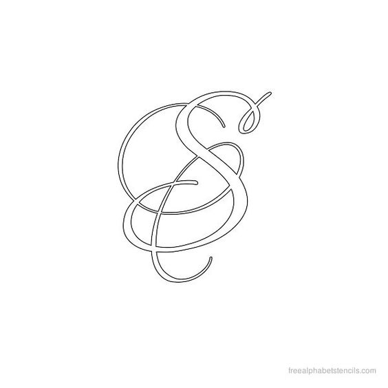 Calligraphy alphabet stencil s letter pinterest