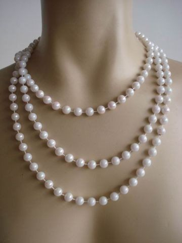 Foxxeo 10137 | 20er Jahre Perlenkette 180cm für Charleston Kostüm Perlen Kette 20iger: Amazon.de: Spielzeug
