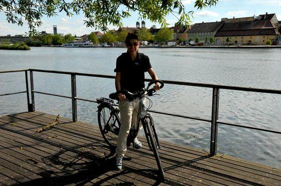 Spaß am Radfahren am Main-Radweg