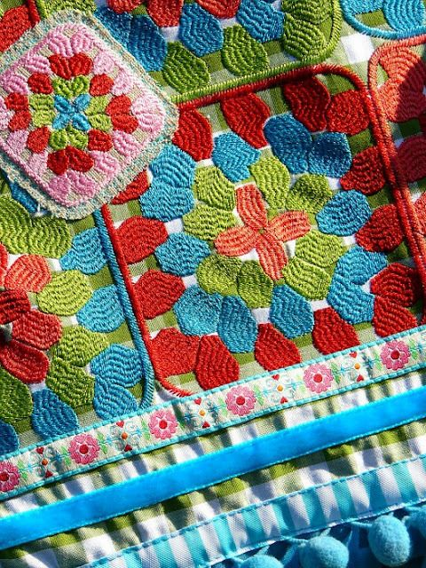 crochet knits craft crochet crochet art square embroidery embroidery ...