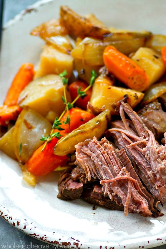 Balsamic Pot Roast with Caramelized Onions + Potatoes | Recipe | Fonts ...