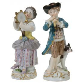 TWO MEISSEN MODELS OF CHILD MUSICIANS, EARLY 20TH CENTURY