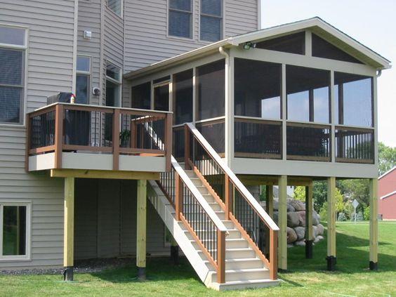 Decks And Porches Second Floor Fabulous Enclosed Porch