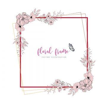 Floral Floral Clipart Flower Png And Vector With Transparent Background For Free Download Floral Floral Border Design Flower Frame