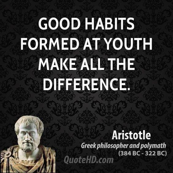 Good habits...  Re Pin