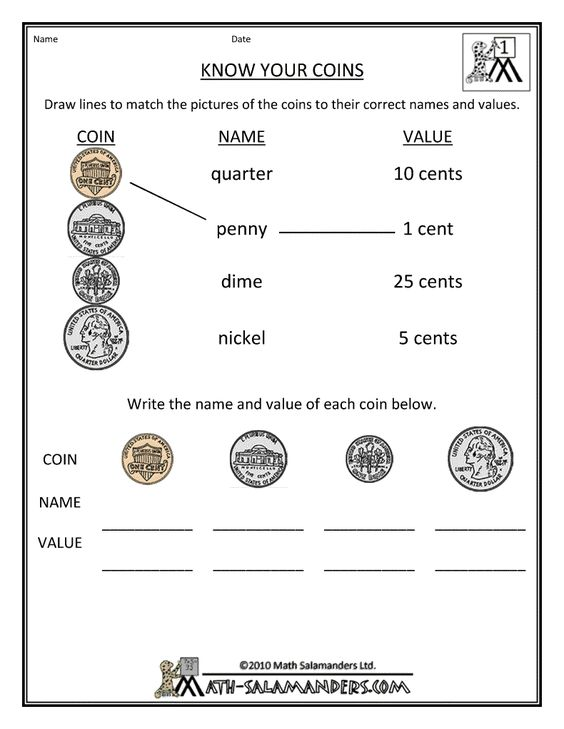 A really simple, yet effective, worksheet to help teach you're 1st ...