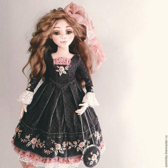 Купить Полина - тёмно-фиолетовый, единственный экземпляр, авторская кукла, наталья осминко, кукла в подарок