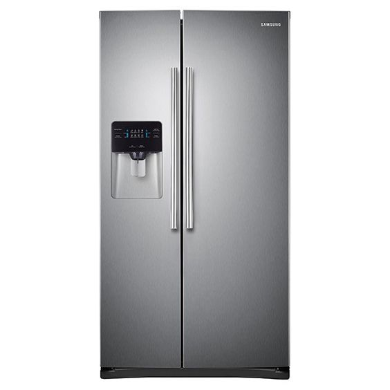 """Samsung 36"""" Wide, 25 cu. ft. Capacity Side-By-Side Refrigerator with LED Lighting (RS25H5000SR)"""