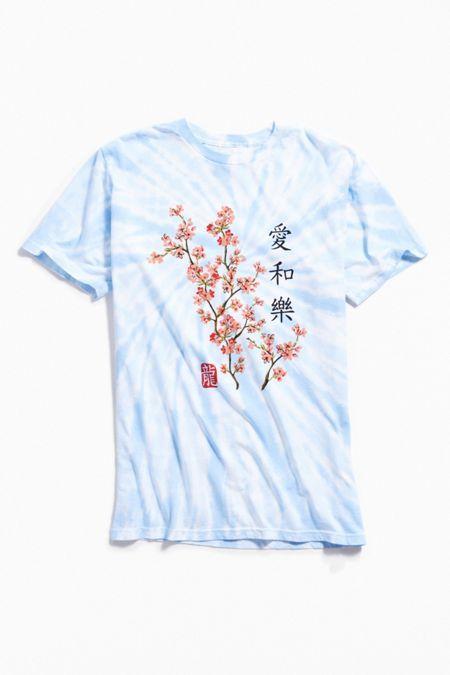 Men S Tops T Shirts Hoodies More Urban Outfitters Cherry Blossom Shirt Cherry Blossom Japan Kawaii Shirts
