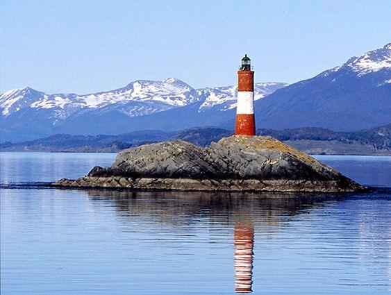 El Faro del Fín del Mundo, The Lighthouse at the End of the World, Isla de Los Estados, Tierra del Fuego, Argentina