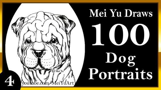 100 drawings challenge mei yu draws 100 dog portraits 4 shar 100 drawings challenge mei yu draws 100 dog portraits 4 shar pei fun2draw pinterest shar pei drawing challenge and dog portraits ccuart Images