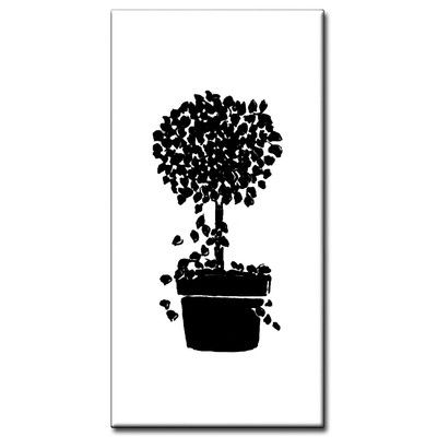 """Tile Products Group Standard 4.25"""" x 2.13"""" Topiary Spacer in Black Address Plaque"""