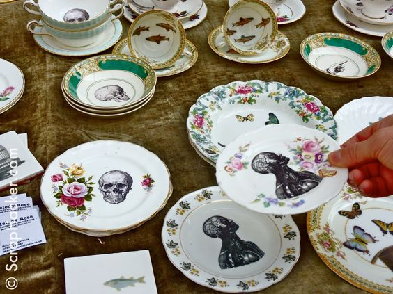 Melody Rose Upcycled ceramics... What a fun upcycle of the out of style china wear we all have hiding in our cupboards.