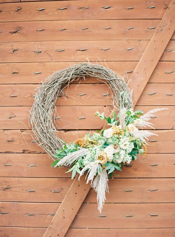 wedding wreath | Rustic Romance wedding in Texas