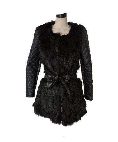 Amazon.co.jp: (ケイジェイスタイル)KJstyle フェイクレザー ファー ミクッスコート 韓国ファッション: 服&ファッション小物通販