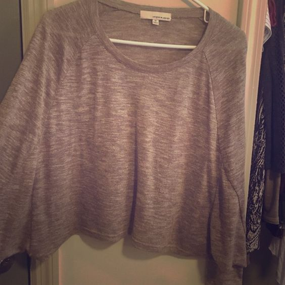 Umgee Junior sweater-crop Worn one time! In perfect condition. Crop-style sweater, perfect for throwing on over a tank  as a layering piece, or worn alone! Tops