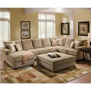 4510 Casual Sectional Sofa Group With Chaise By Corinthian   Wolf Furniture    Sofa Sectional Pennsylvania