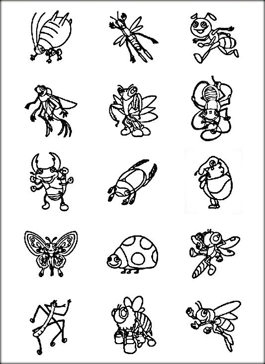 Birds And Insects Coloring Pages Insect Coloring Pages Coloring