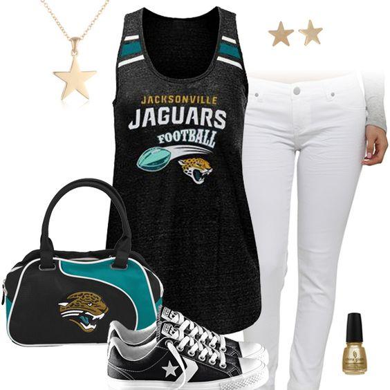 Women's Jacksonville Jaguars Black Beat Leather Watch