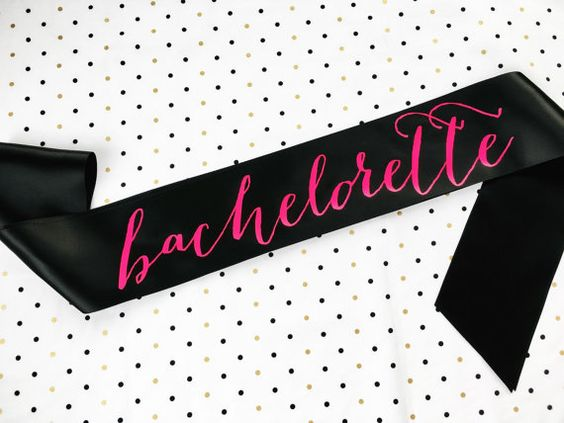 Bachelorette Sash By Shades Of Pink Btw Neon Hot On Black