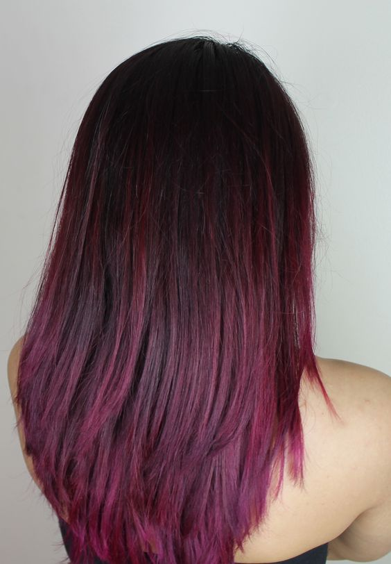 Another :) pink / purple / red ombre kinda hair with La Riche Directions in 'Dark Tulip' :)  Blog: www.the-ravi-osahn.com