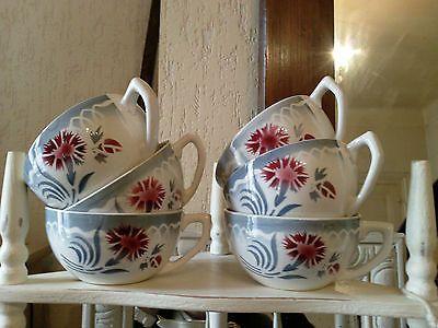 lot de 6 jolies tasses ancienne digoin marinette n vaisselle ancienne pinterest. Black Bedroom Furniture Sets. Home Design Ideas