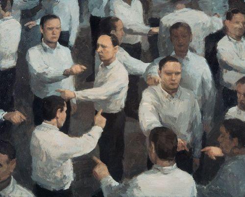 Peter Martensen. Multiplications. One Finger Fuga, 1993. Oil on...