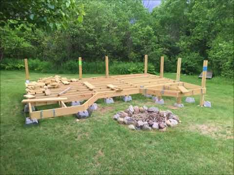 How I Built My Floating Deck On Uneven Ground Youtube Floating Deck Building A Floating Deck Building A Deck