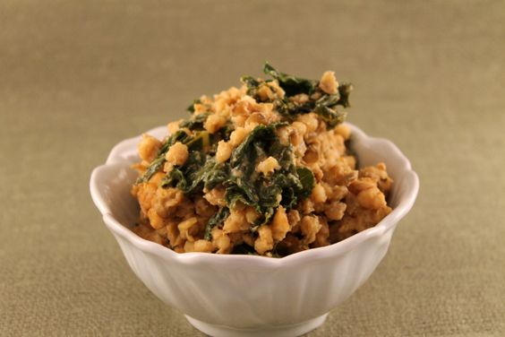 Lentil-Kale Vegan Risotto - gotta make this!