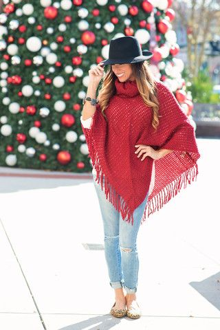 "The ""Handknit"" Sweater Poncho"