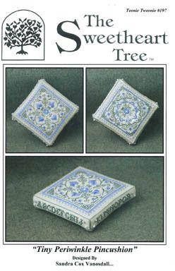 Tiny Periwinkle Pincushion - Cross Stitch Pattern