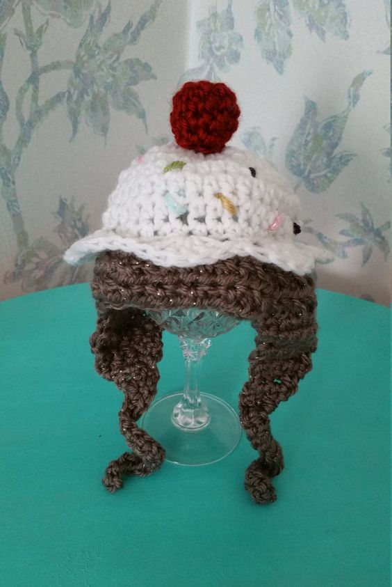Infant Cupcake Hat by DarnYarnKat on Etsy