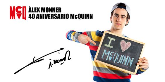 Àlex Monner, imagen del 40 Aniversario de McQuinn