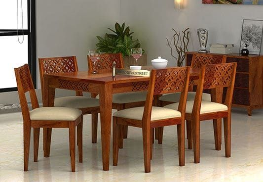 Pune 6 Seater Dining Table Buy Dining Table Dining Table Design