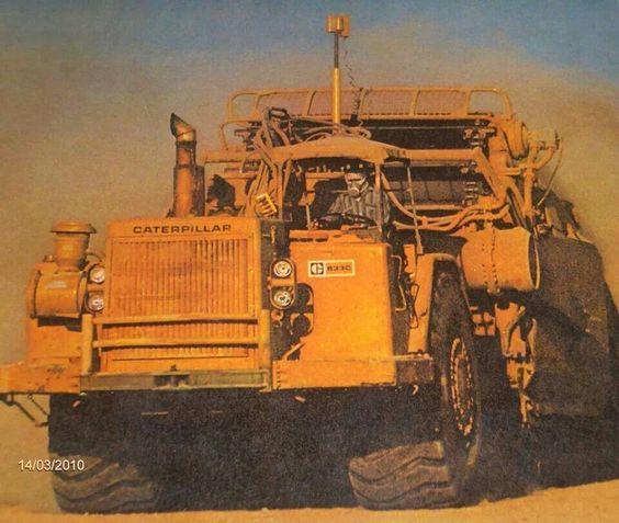 Old Heavy Equipment : Cat c old school no a radio just hard fukn