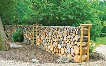 Wood garden wall.