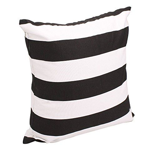 B/W Wide Stripe | Advogue Cotton Canvas Pillow Cover