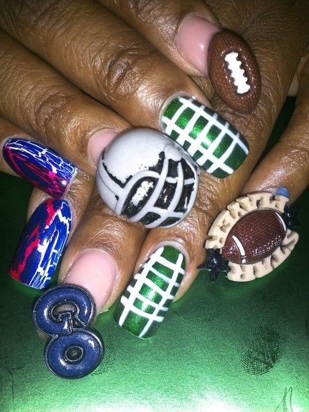 DIY Super Bowl Nail Art: 10 Fun Game Day Nail Ideas To Consider - Nails - StyleBistro