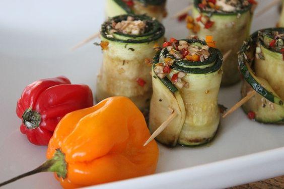 Sallys Blog - Zucchini-Röllchen mit Schafskäse