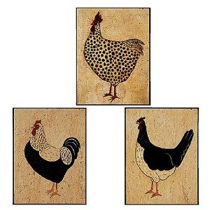 Wallies 12941 Warren Kimble Roosters Wallpaper Cutout - Amazon.com