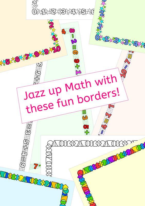 Math Borders frames for worksheetstask cardsactivities – Cool Maths Worksheets