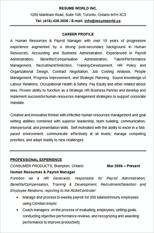 Human Resources Resume Template Sample Hiring Manager Resume The Hr Team Is Fantastic Are You The People Human Resources Resume Human Resources Hr Resume