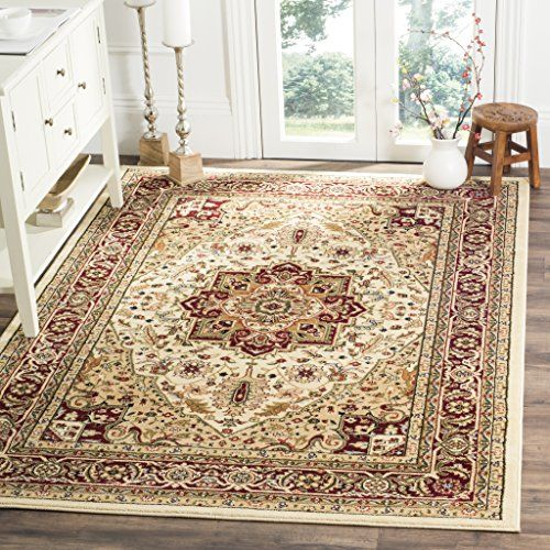 Safavieh Lyndhurst Collection Lnh330a Traditional Oriental Medallion Ivory And Red Area Rug 10 X 14 309 02 Traditional Area Rugs Cool Rugs Lyndhurst