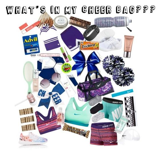 What's in my Cheer Bag?? by kyndra-mcginley on Polyvore featuring polyvore, NIKE, Calvin Klein, Asics, Monki, Fitbit, Beats by Dr. Dre, Urban Decay, L'Oréal Paris, Maybelline, CB2, Dove, Victoria's Secret, Chassè, fashion, style and clothing
