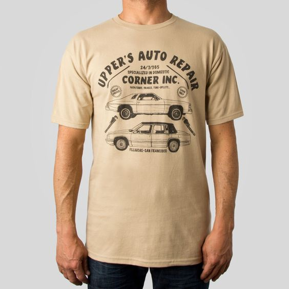 UP Auto T-Shirt in Tan